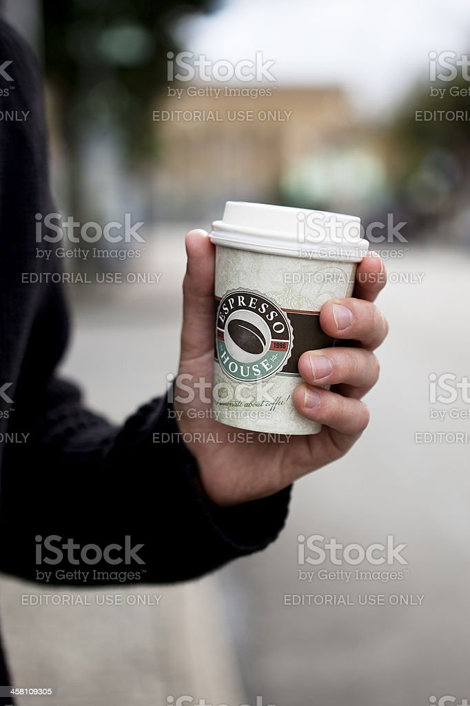 Coffee Cup - Espresso House royalty-free stock photo