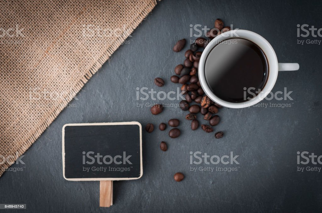 Coffee cup for pricing stock photo