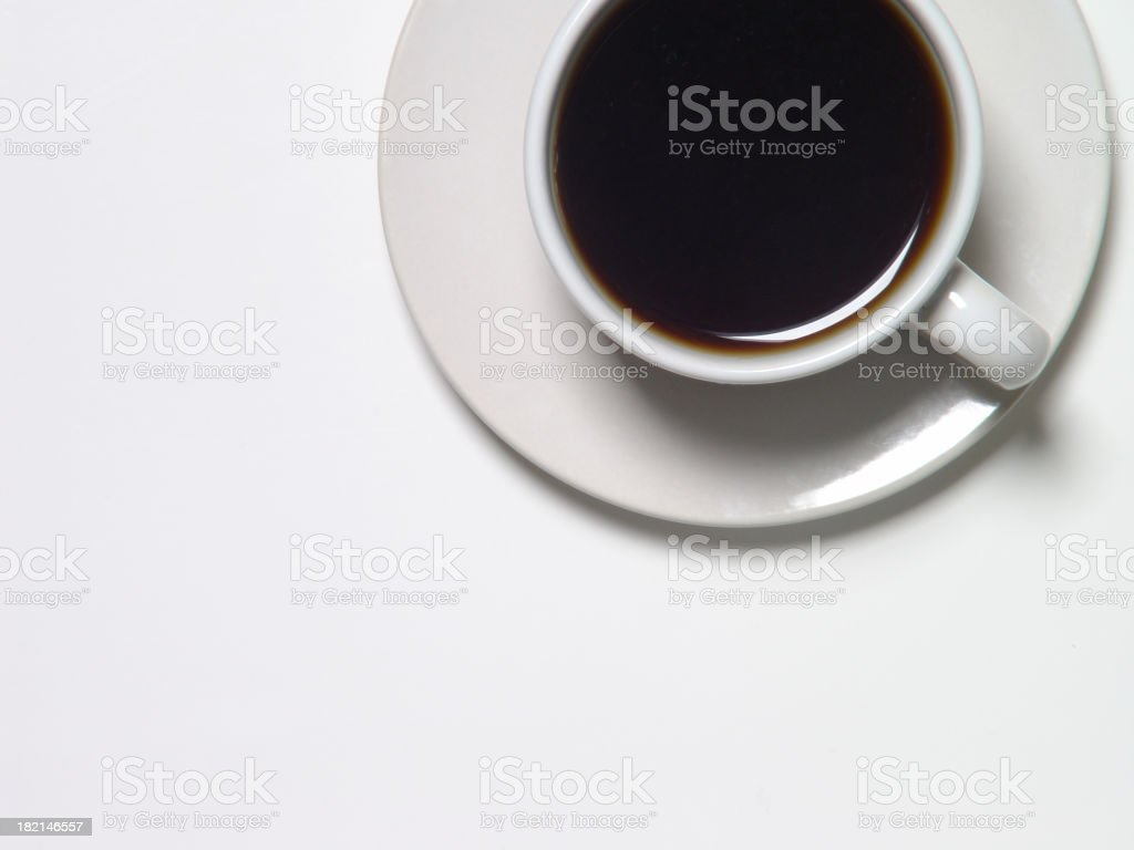 Coffee Cup from Above royalty-free stock photo