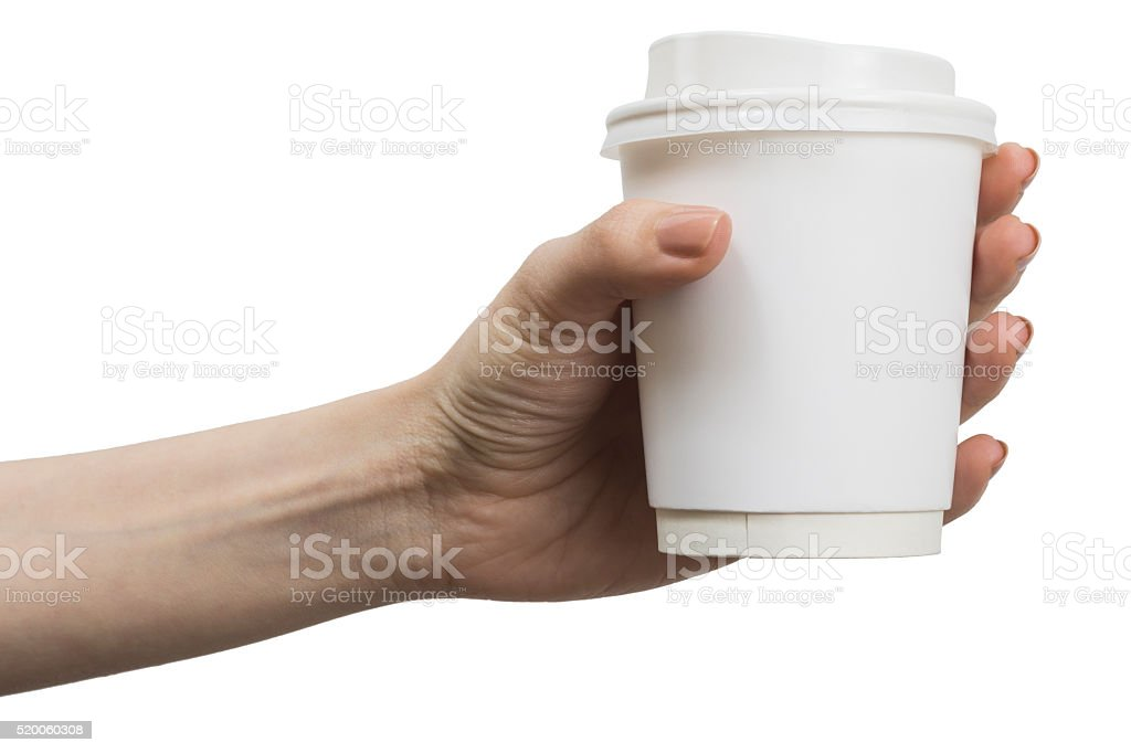 Coffee Cup in Hand stock photo
