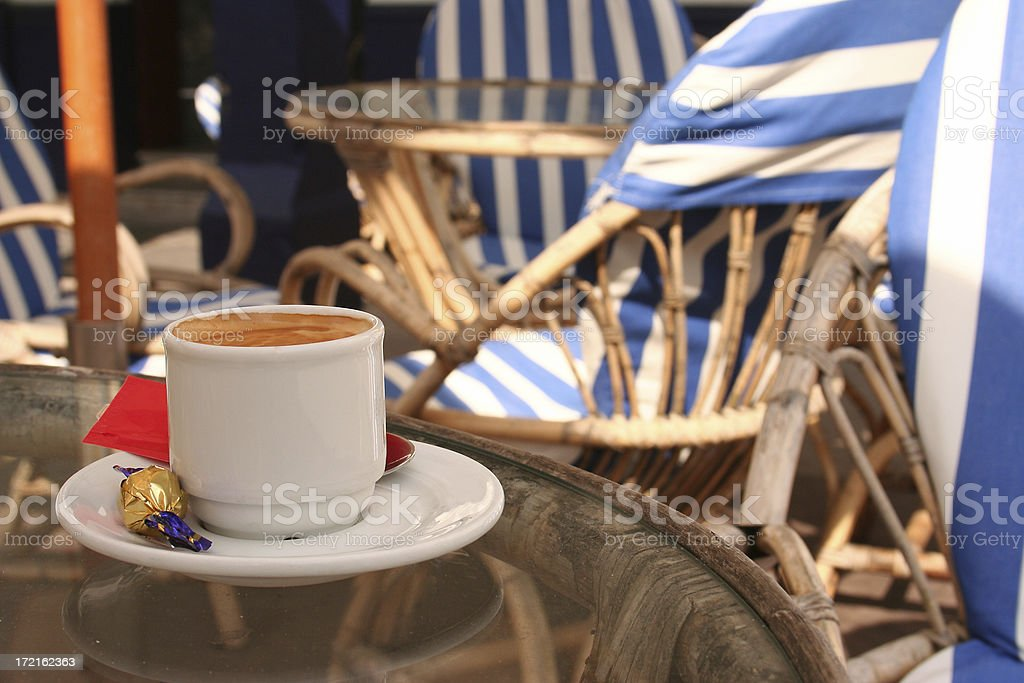 Coffee cup in Spain royalty-free stock photo
