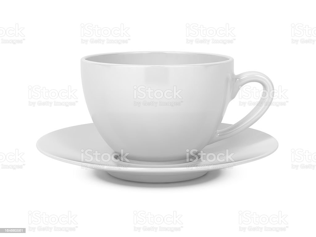 Coffee Cup Isolated on White. royalty-free stock photo