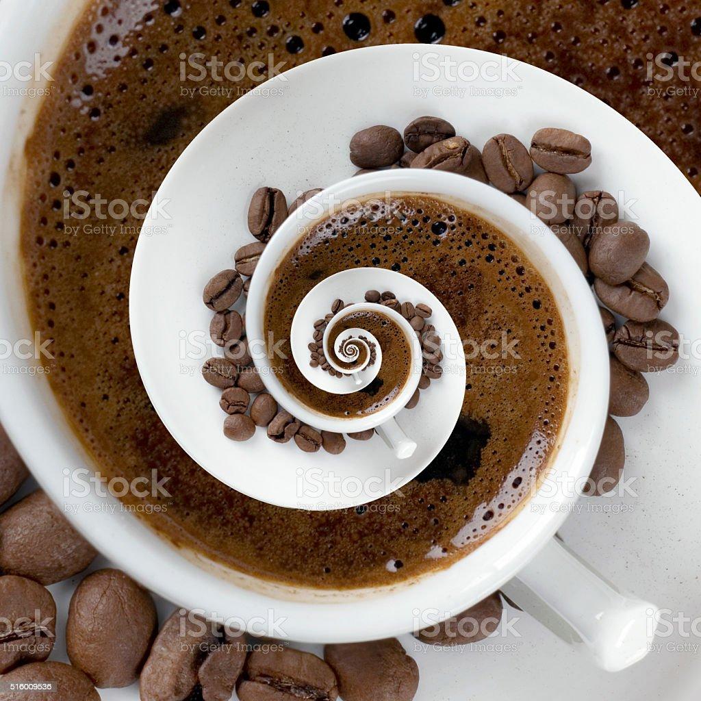 Coffee Cup Meditatin stock photo