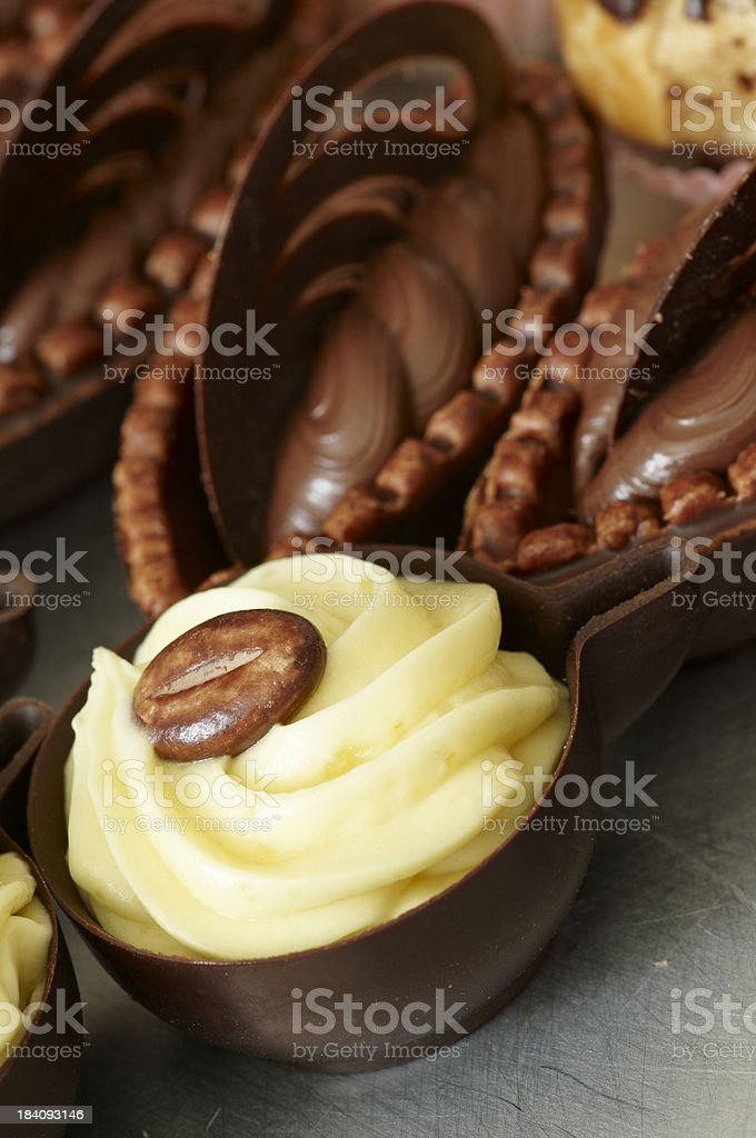 Coffee Cup Mini Pastry royalty-free stock photo