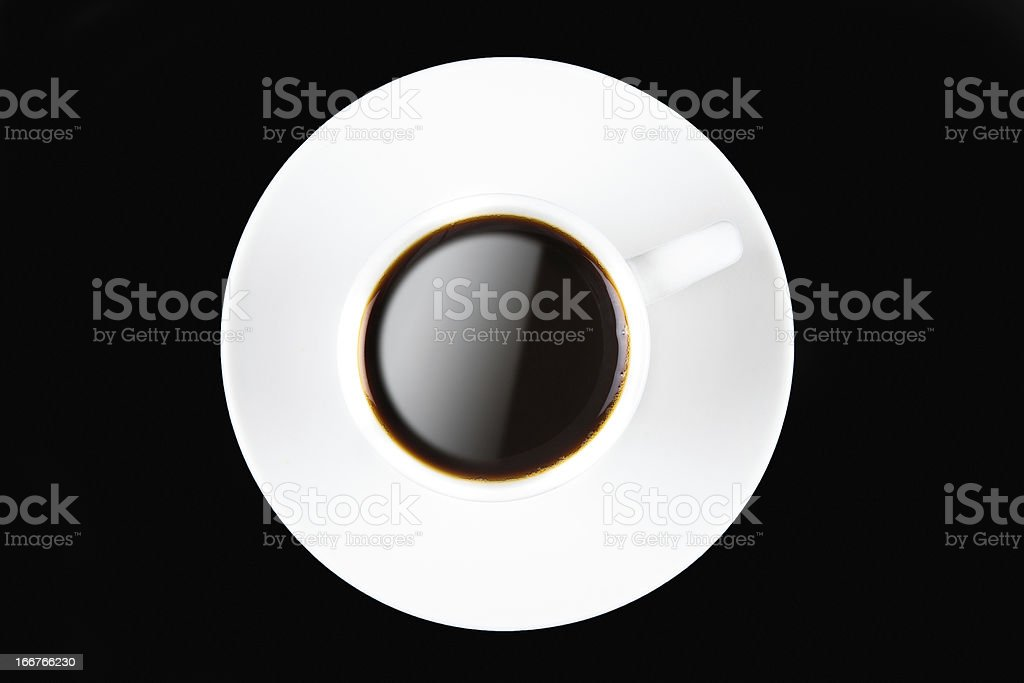 Coffee cup on black royalty-free stock photo