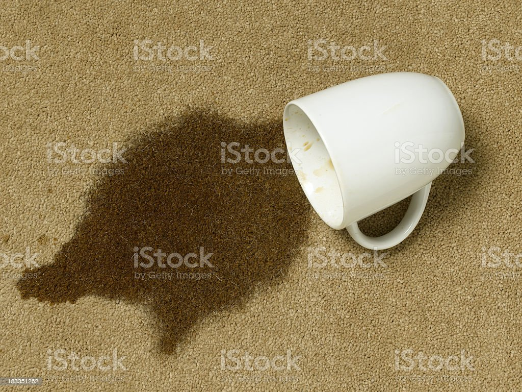 coffee cup on carpet royalty-free stock photo