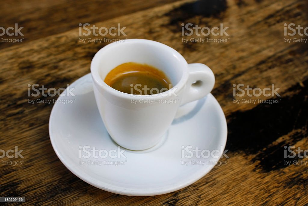 Coffee cup on the table royalty-free stock photo