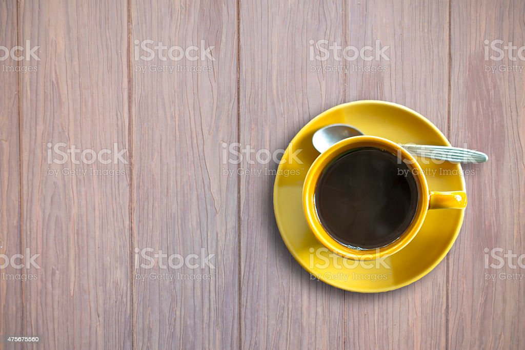 Coffee cup on wooden background royalty-free stock photo