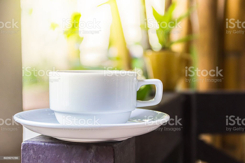 Coffee cup outdoor stock photo