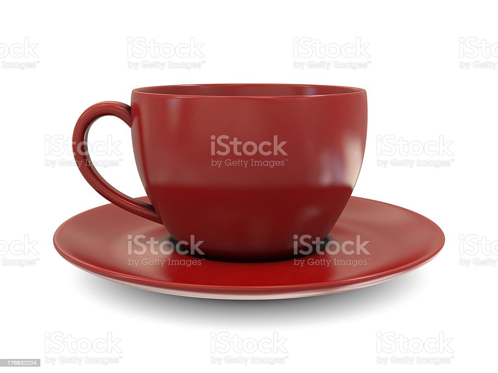 Coffee cup red royalty-free stock photo