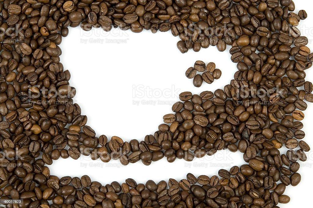 Coffee Cup Shape stock photo