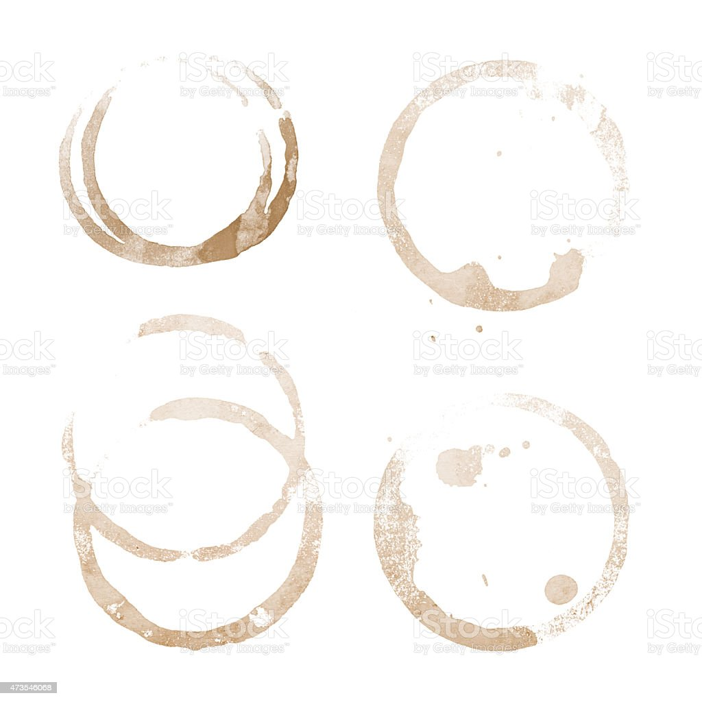 coffee cup stain stock photo
