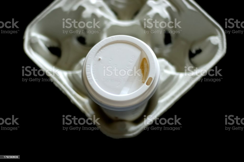 Coffee cup to go stock photo