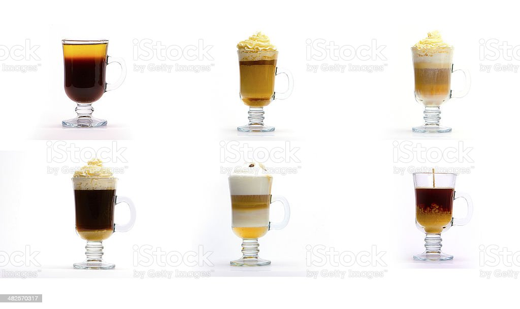 Coffee cup with a coffee drink stock photo