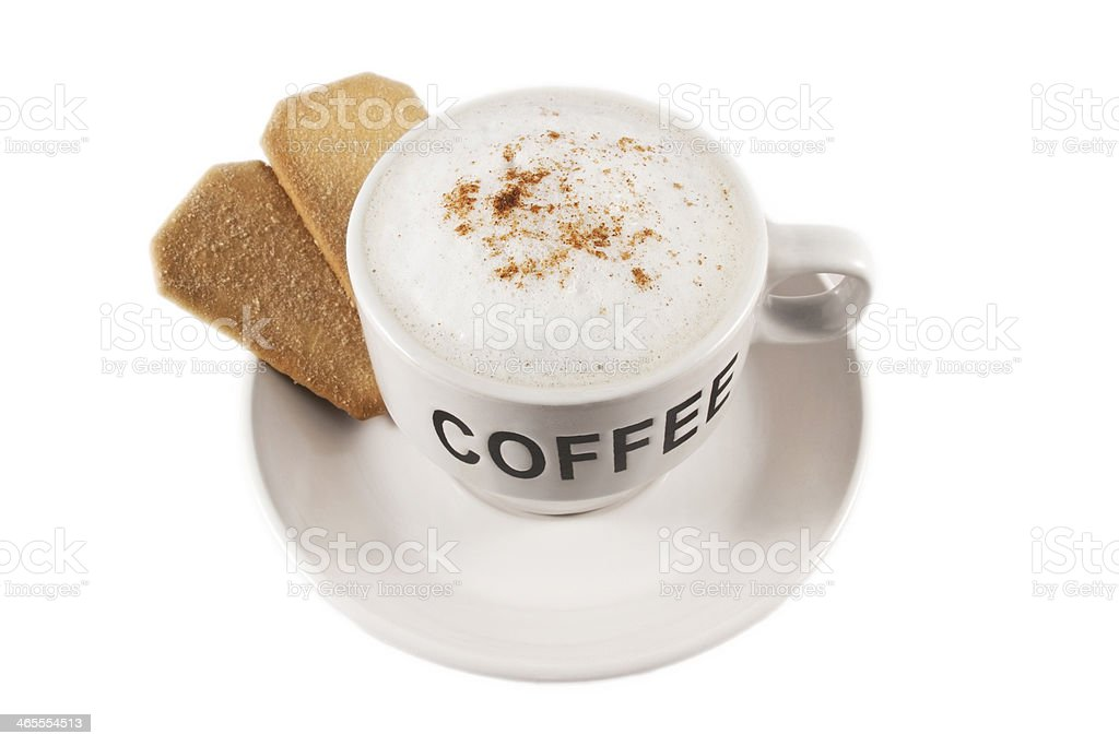Coffee cup with biscuits royalty-free stock photo