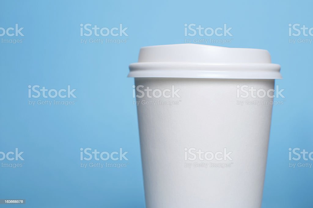 coffee cup with blue background royalty-free stock photo
