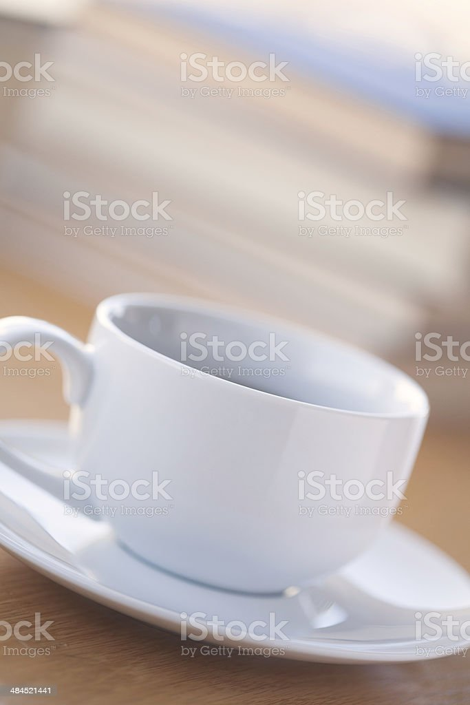 Coffee Cup with Books royalty-free stock photo