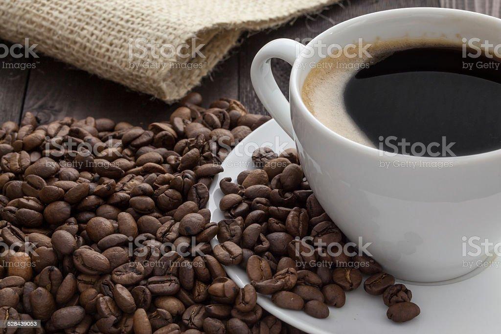 Taza de café con café foto de stock libre de derechos