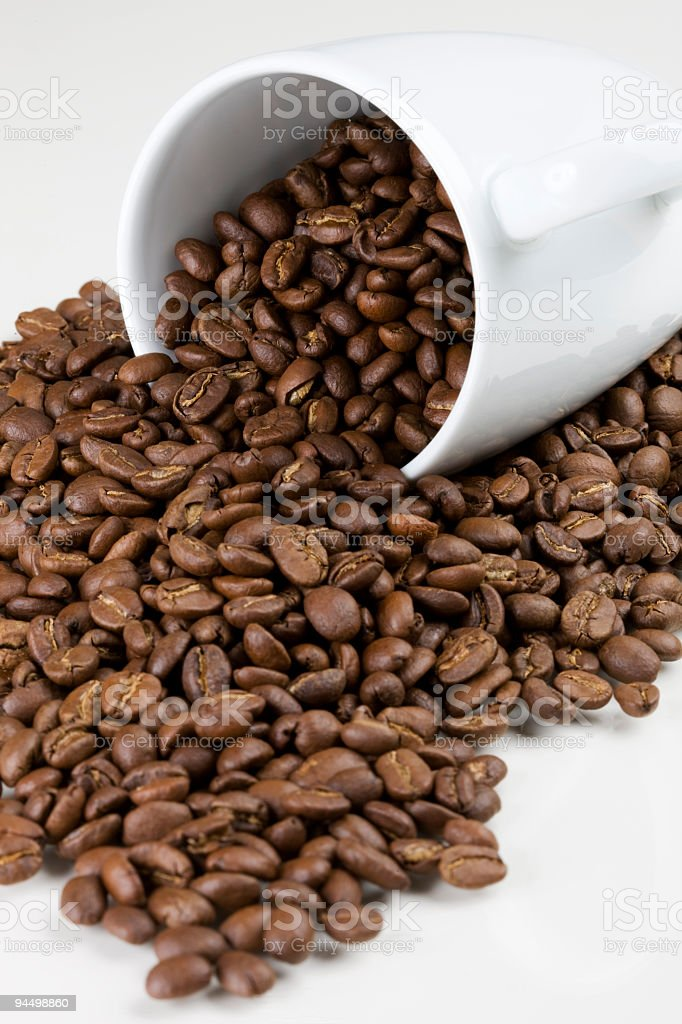 Coffee Cup With Coffeebeans stock photo