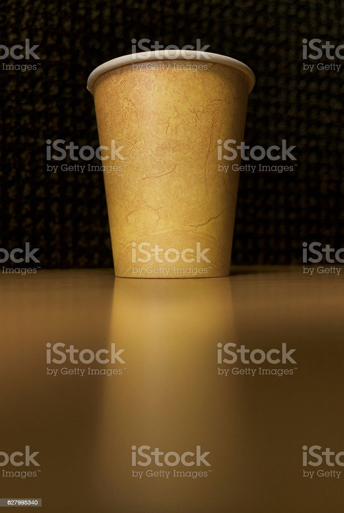 Coffee cup with copy space. stock photo