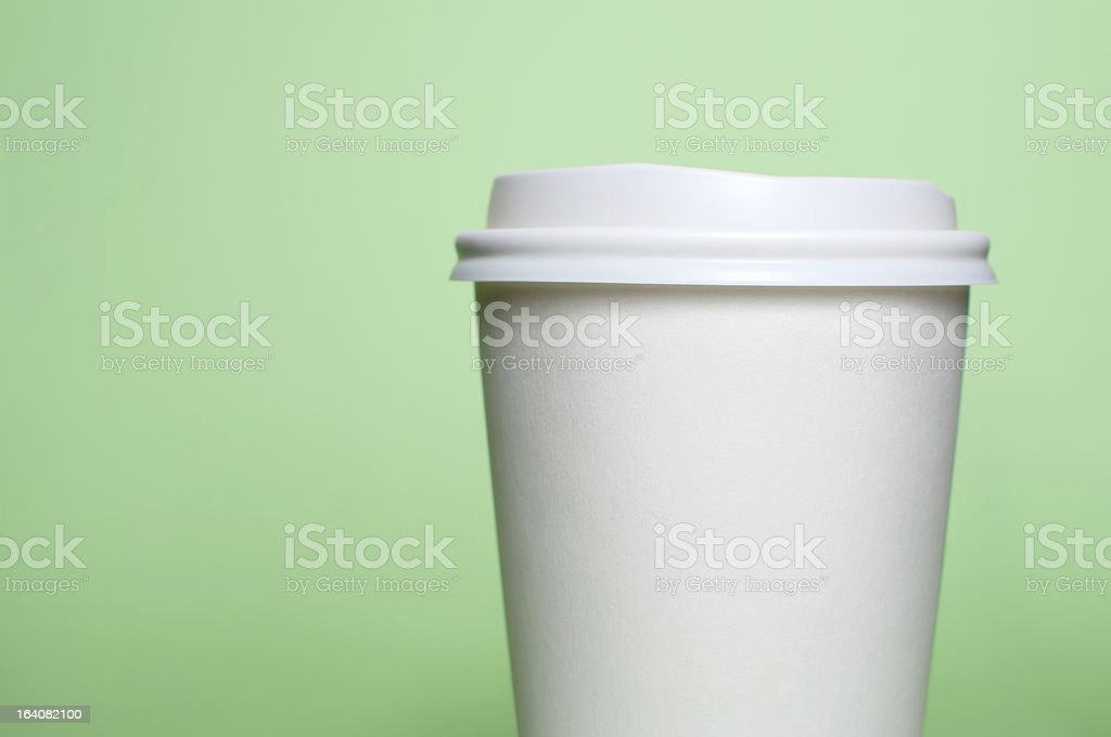 coffee cup with green background royalty-free stock photo