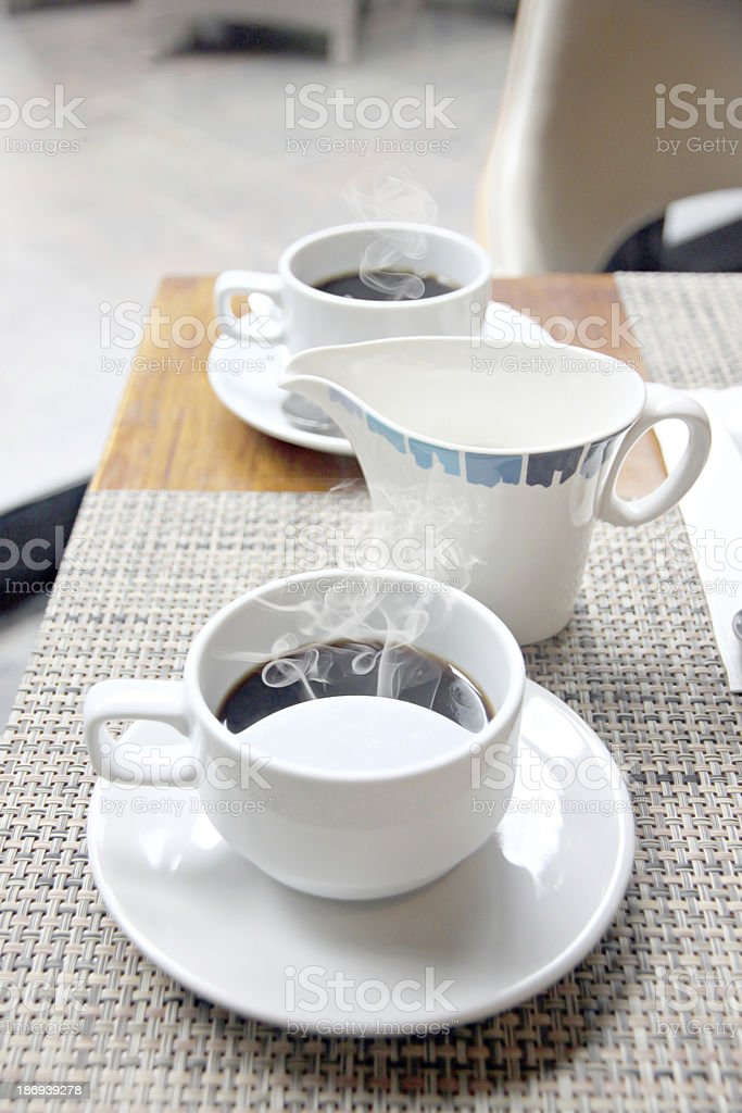 Coffee cup with heat. royalty-free stock photo