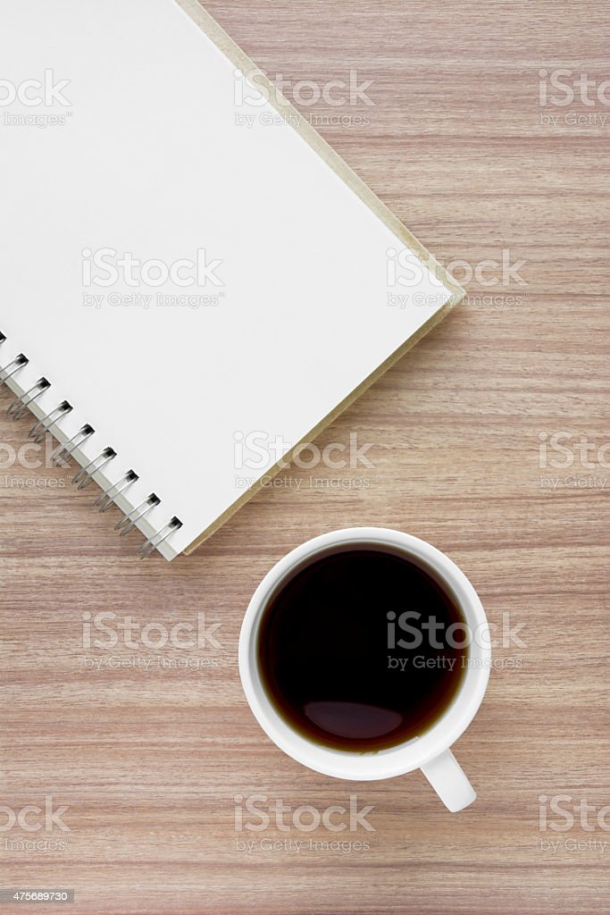 Coffee Cup With Note Book royalty-free stock photo
