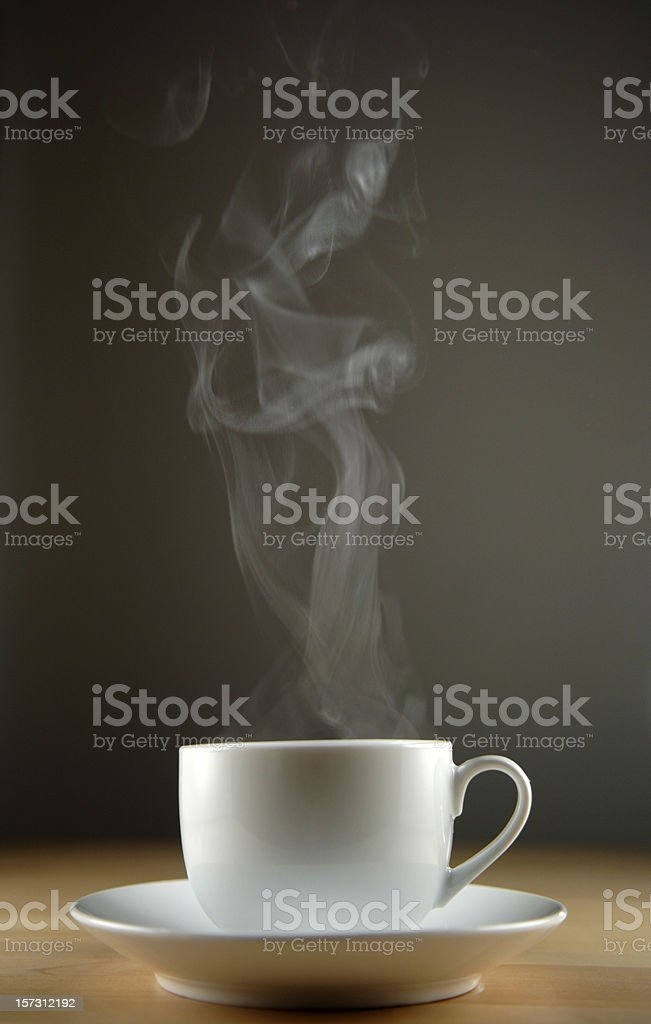 Coffee Cup With Steam royalty-free stock photo