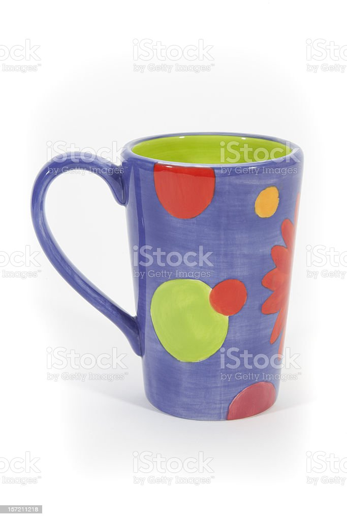 Coffee Cup with Vibrant Colors royalty-free stock photo