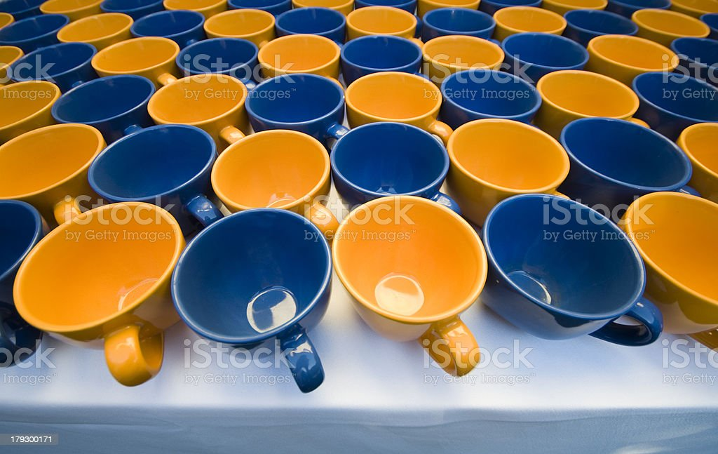 coffee cups on a table royalty-free stock photo