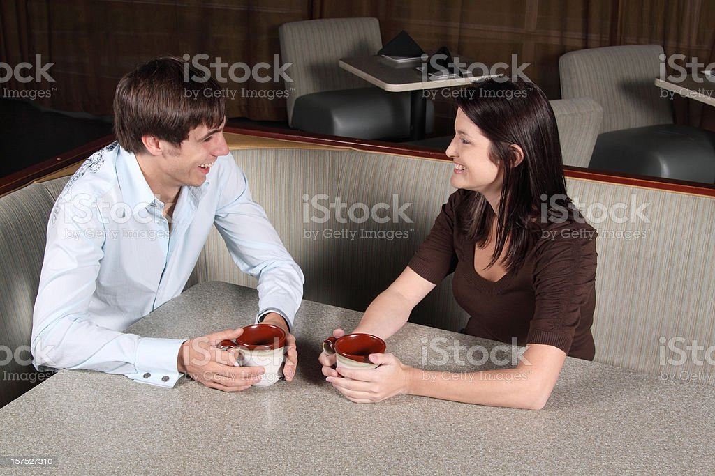Coffee Date royalty-free stock photo