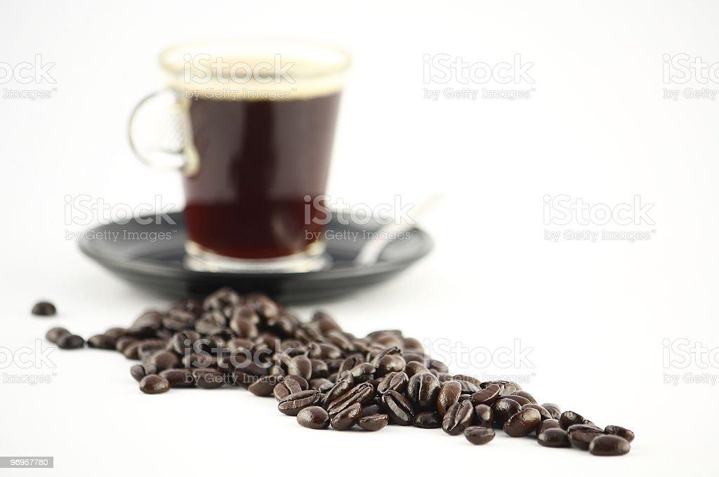 Coffee depth of field stock photo
