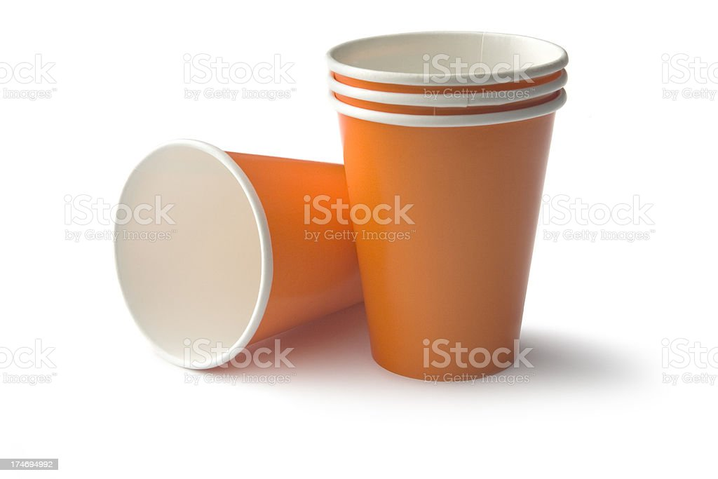 Coffee: Disposable Cup stock photo