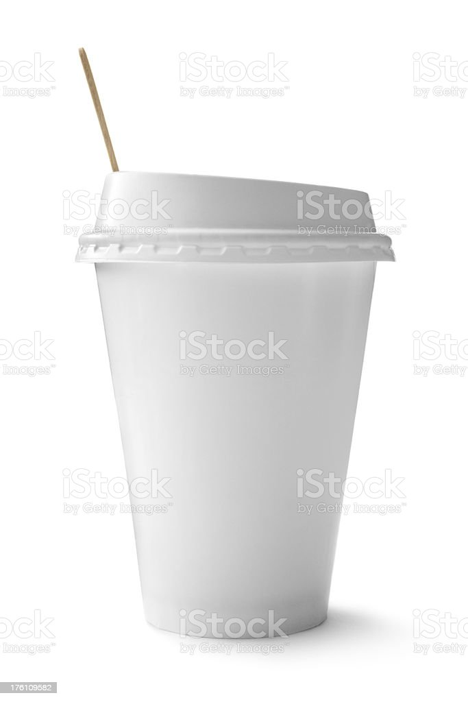 Coffee: Disposable Cup royalty-free stock photo