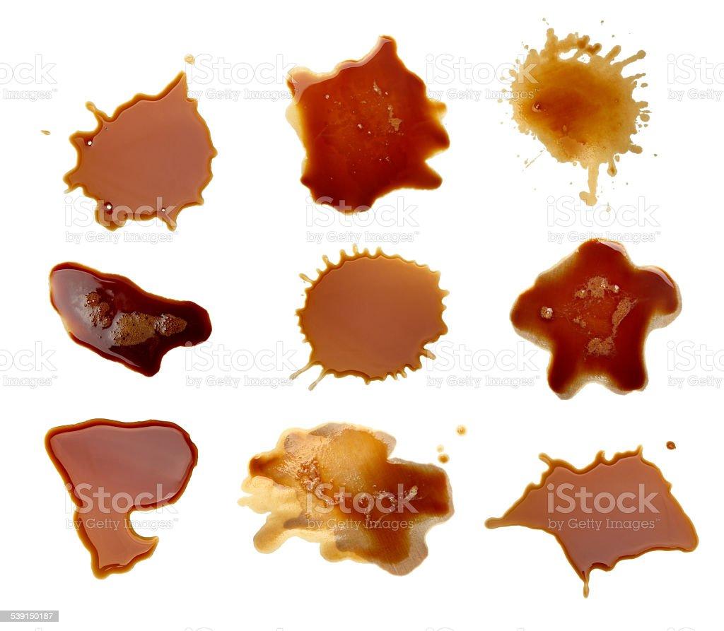 coffee drink beverage splashing stain dirty stock photo