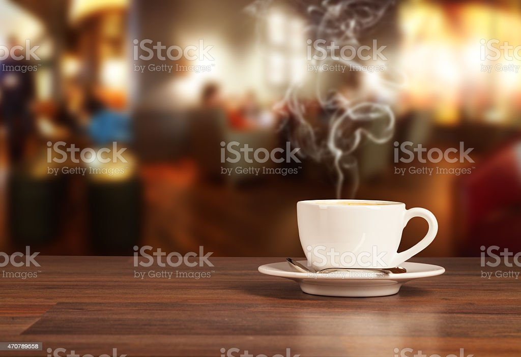 Coffee drink in cafeteria stock photo