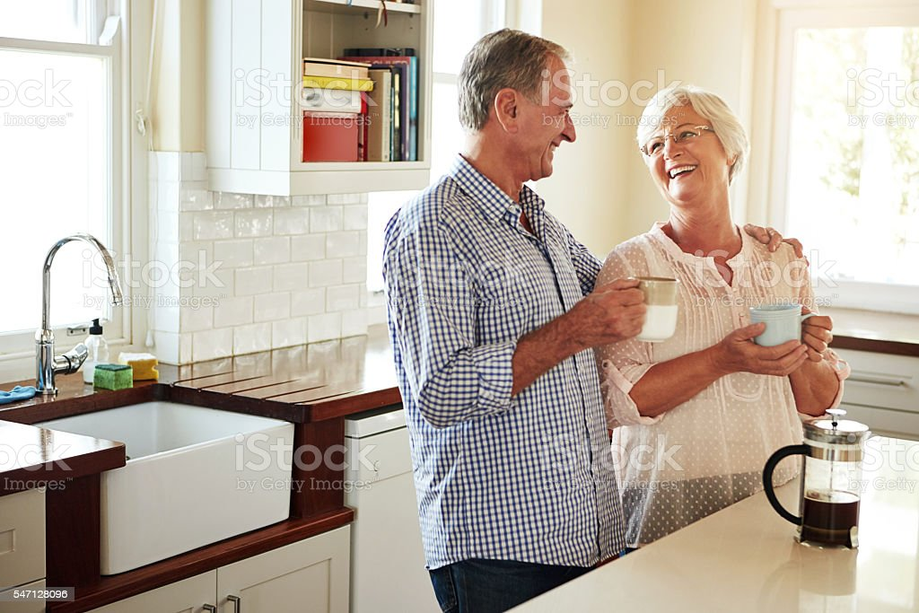 Coffee drinkers make better lovers stock photo