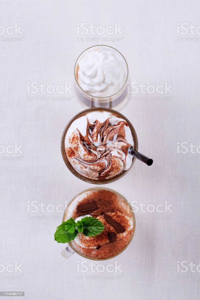 Coffee drinks royalty-free stock photo