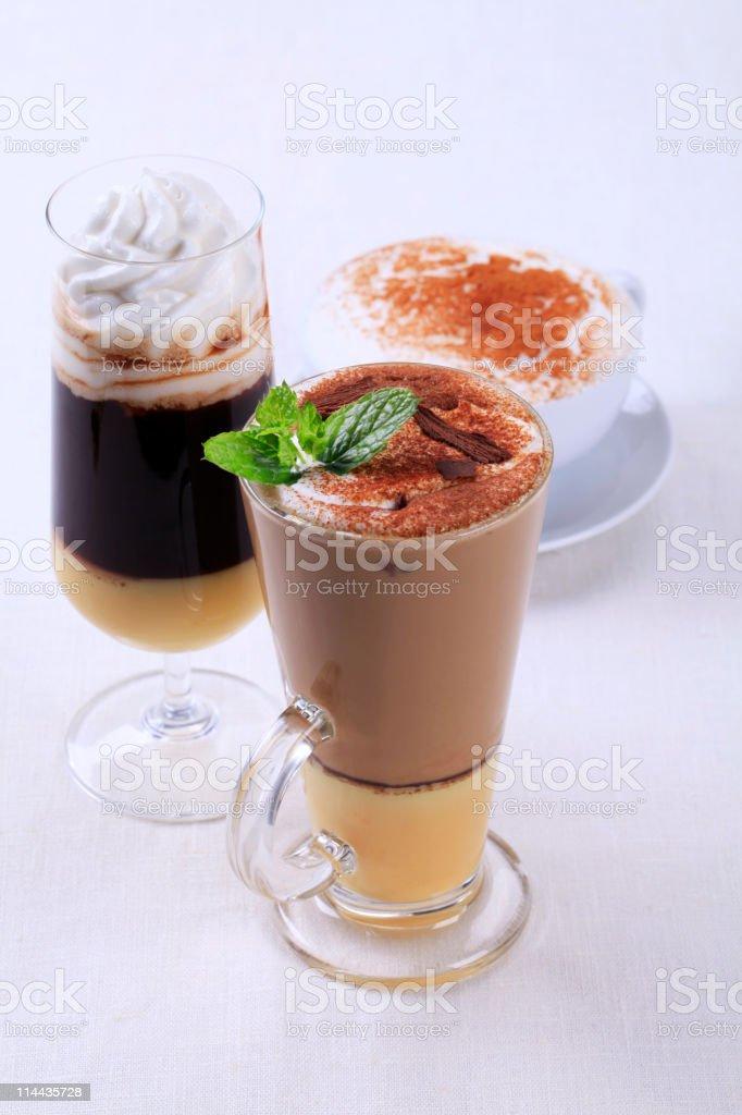 Coffee drinks stock photo
