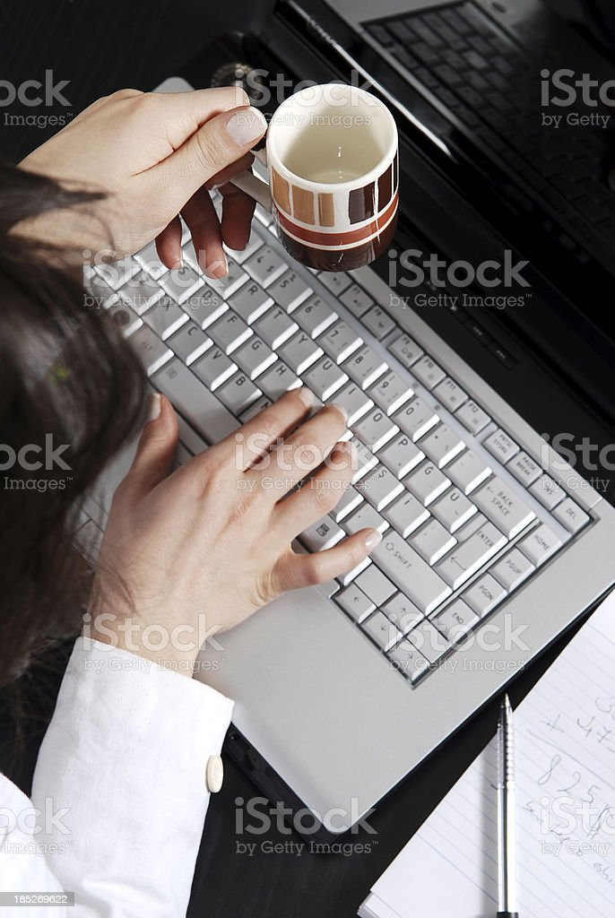 Coffee during working time royalty-free stock photo