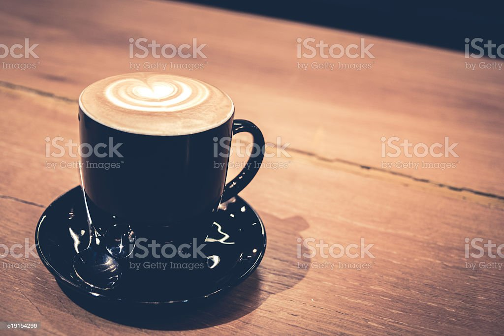 vintage photo style of coffee equipment in coffee cafe background