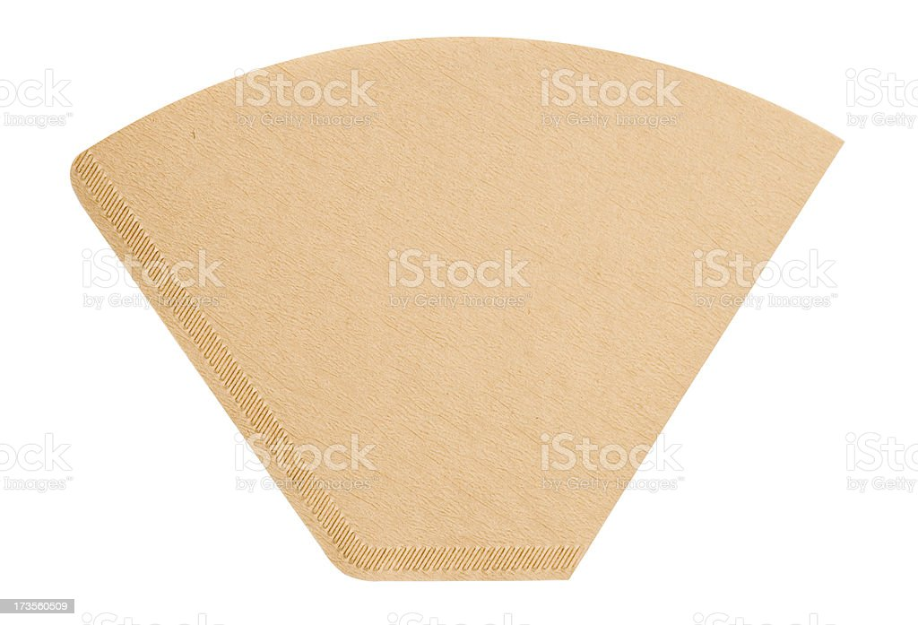 Coffee filter stock photo