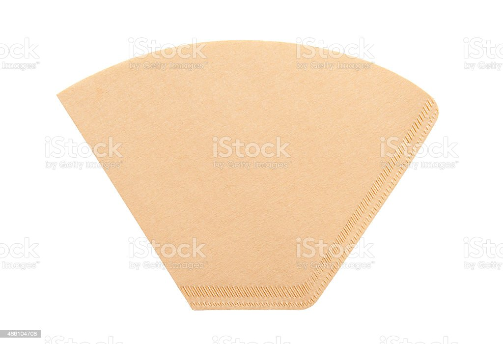 Coffee filter stock photo