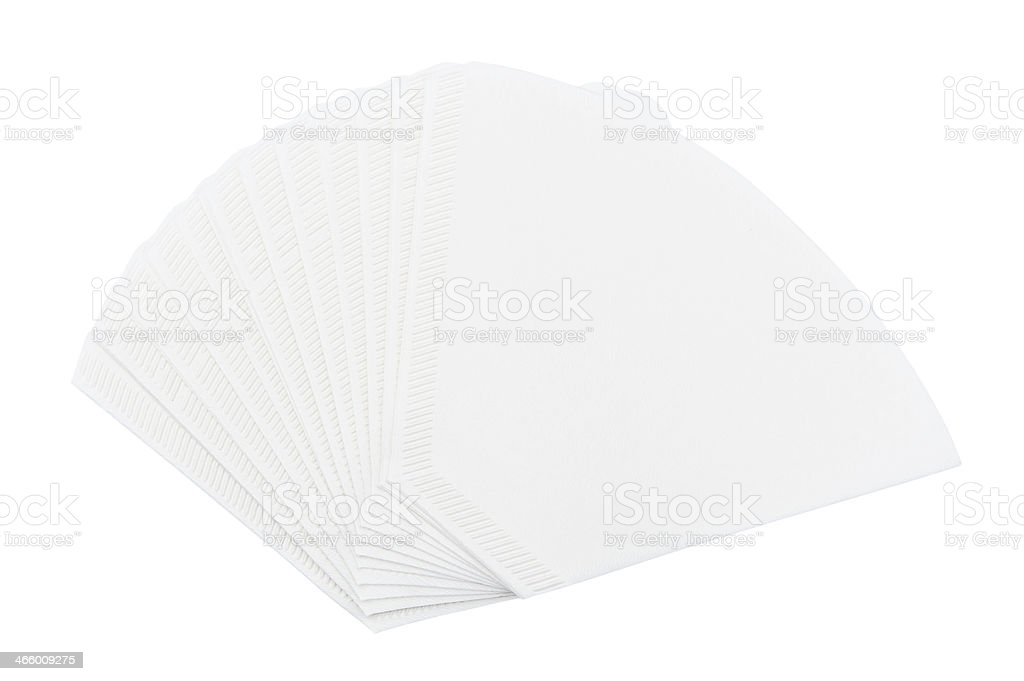 Coffee filters stock photo
