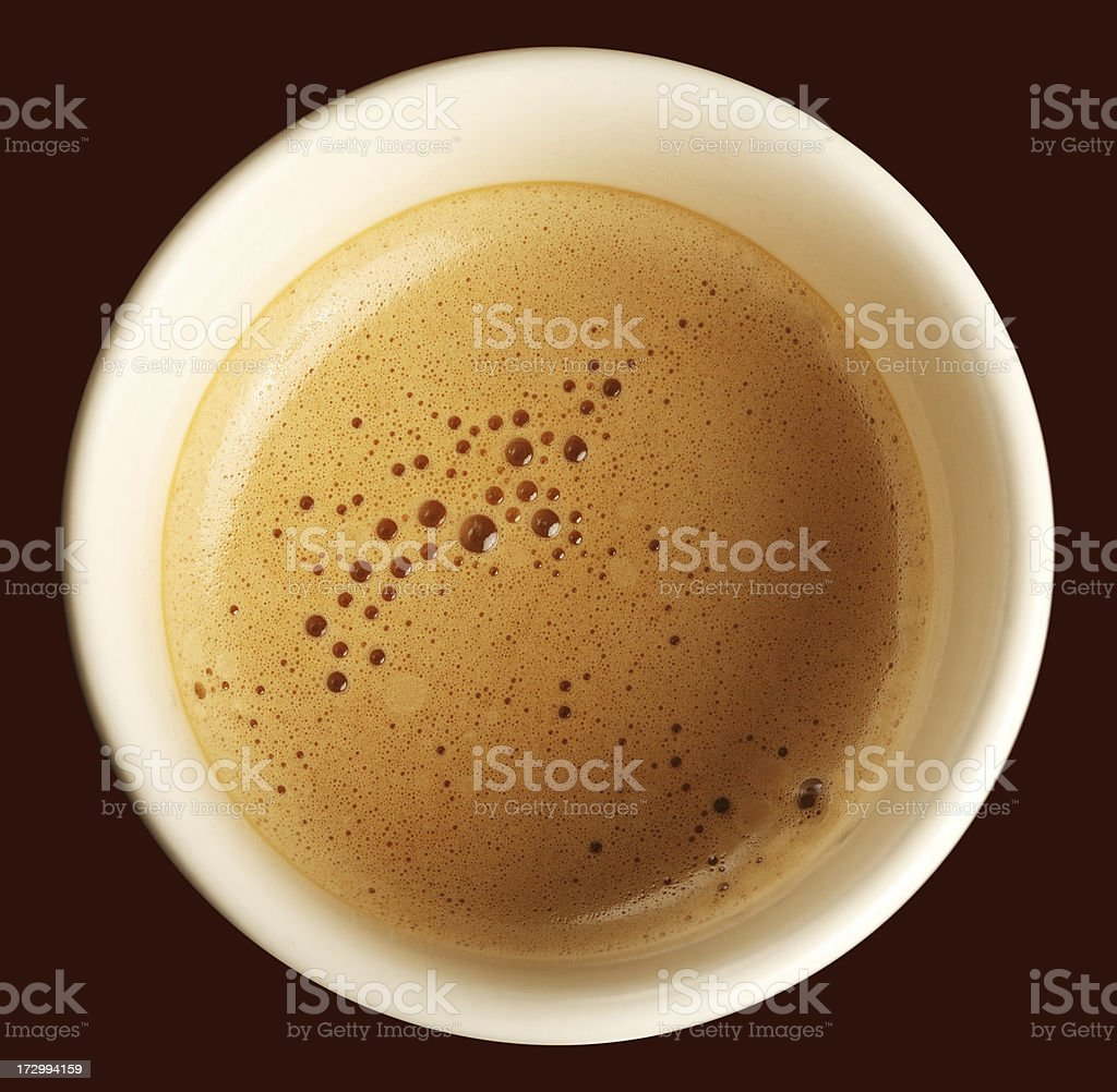 Coffee foam royalty-free stock photo