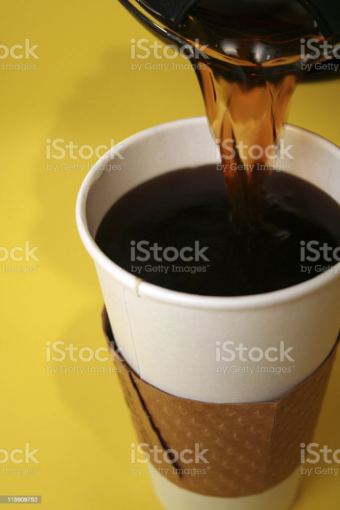 coffee pour royalty-free stock photo
