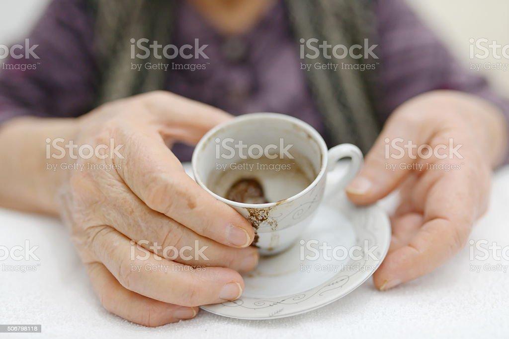 coffee fortune stock photo