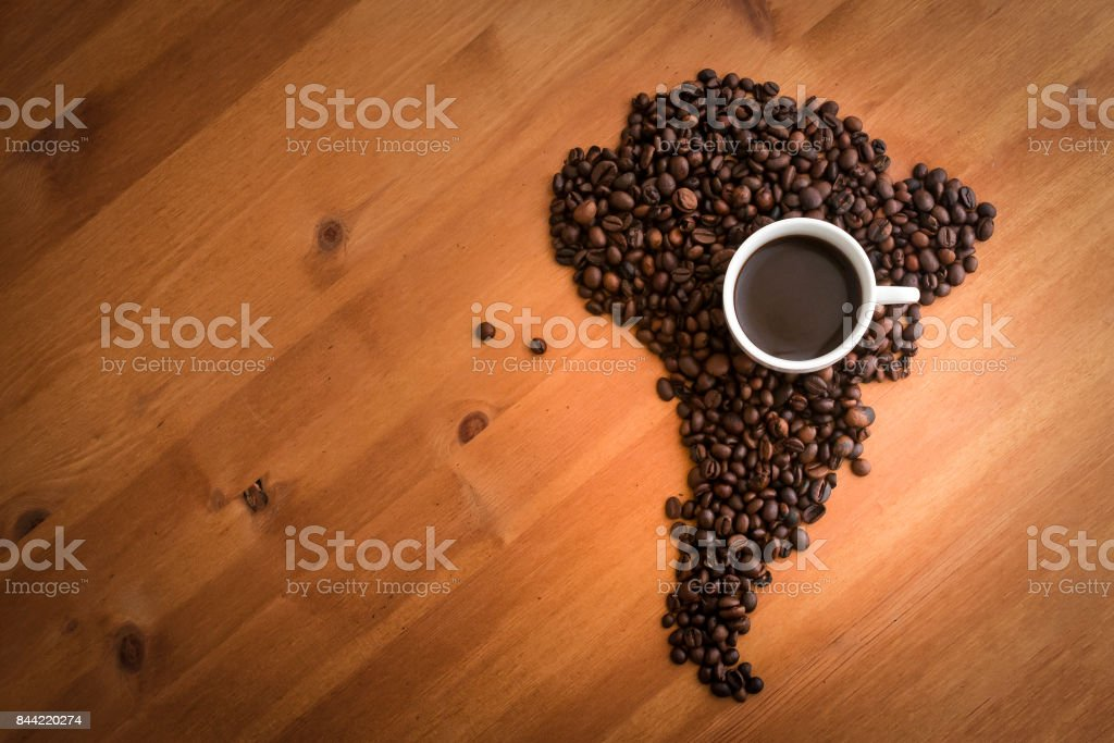 Coffee from South America stock photo