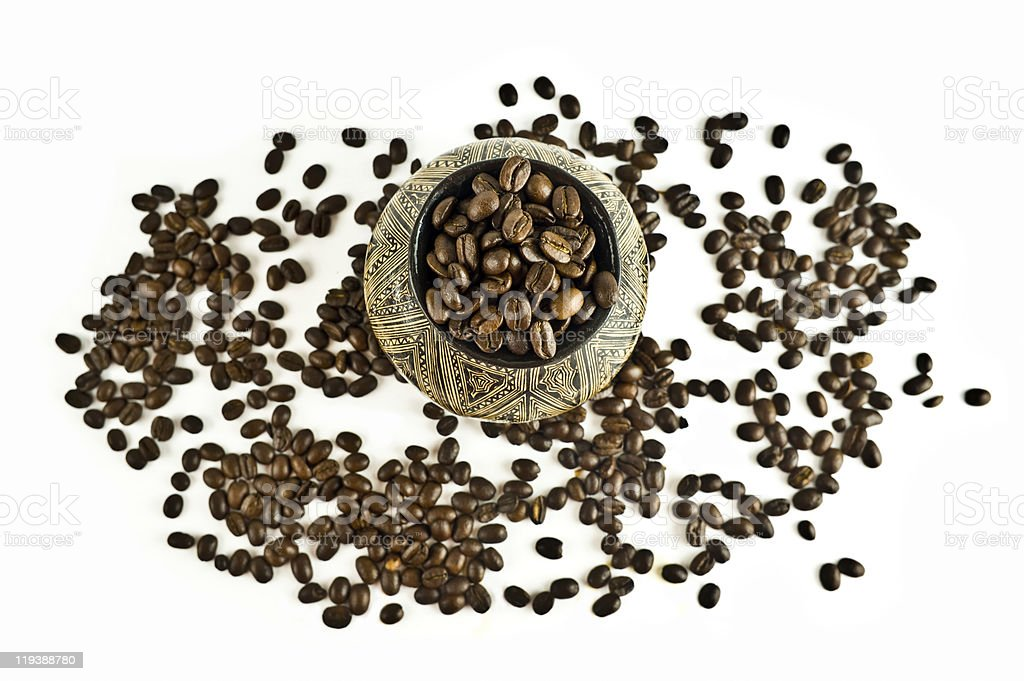 Coffee from the South America royalty-free stock photo