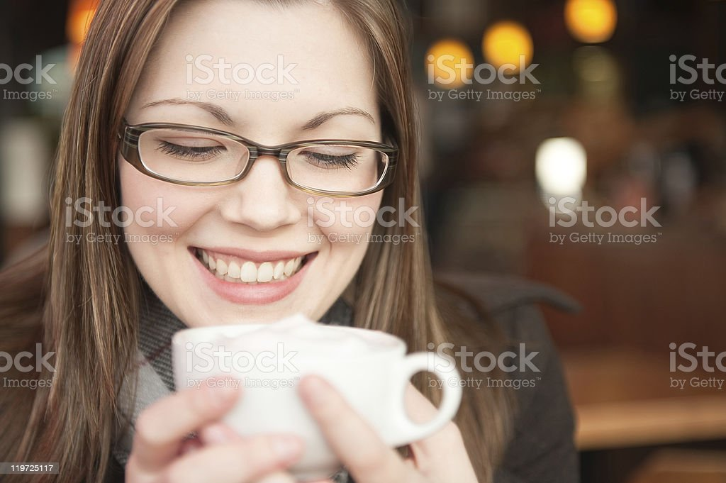 Coffee Girl stock photo